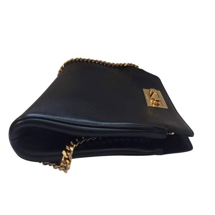 Black leather Handbag-4