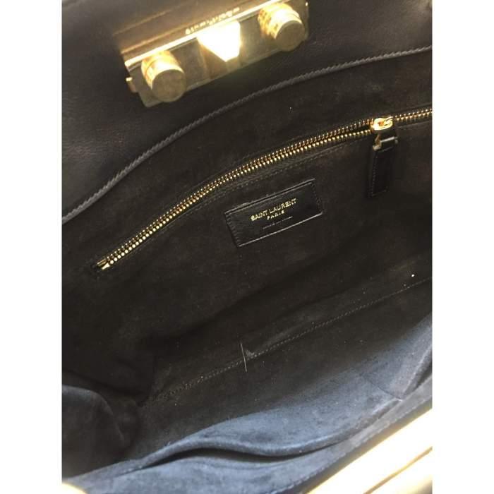 Black leather Handbag-6