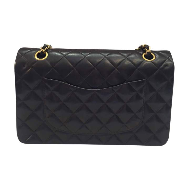 Quilted chocolate leather Bag-2