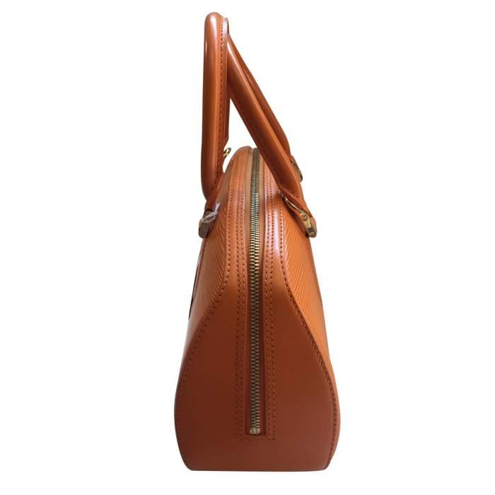 Small orange epi leather Handbag-4