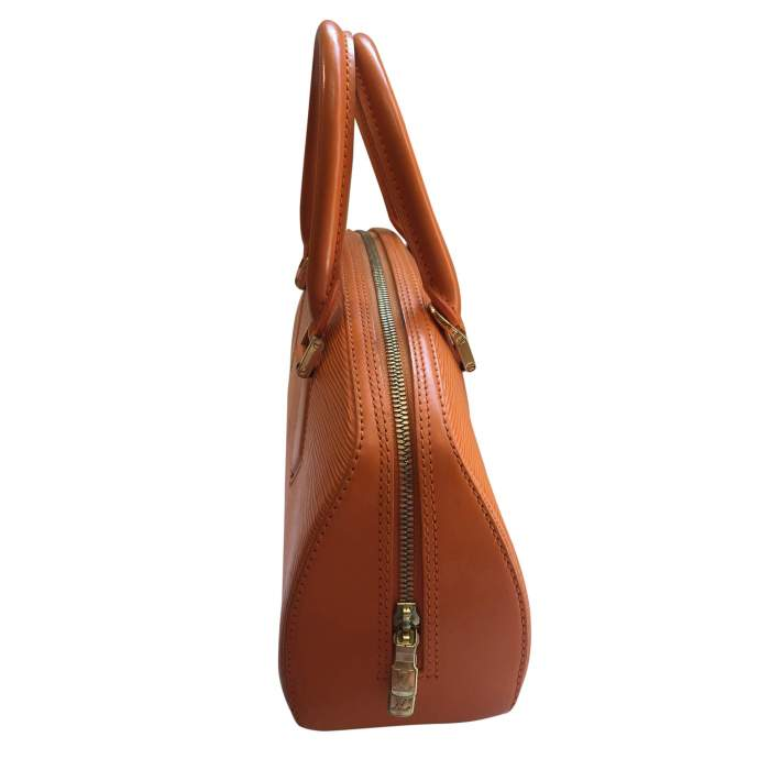 Small orange epi leather Handbag-6