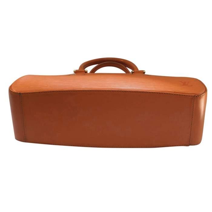 Small orange epi leather Handbag-8