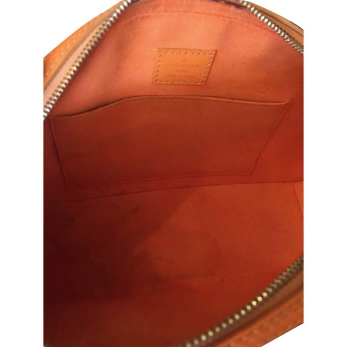 Small orange epi leather Handbag-10