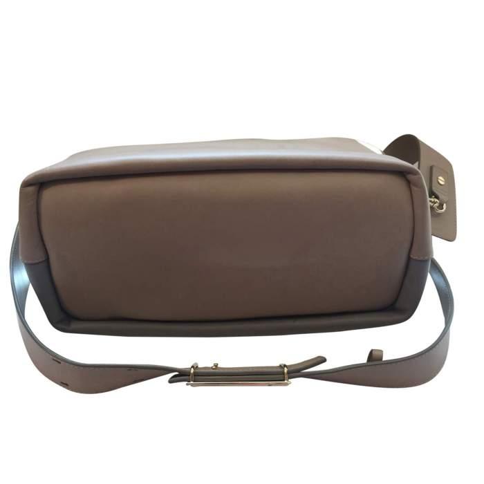 Beige and light gray  leather Handbag -6