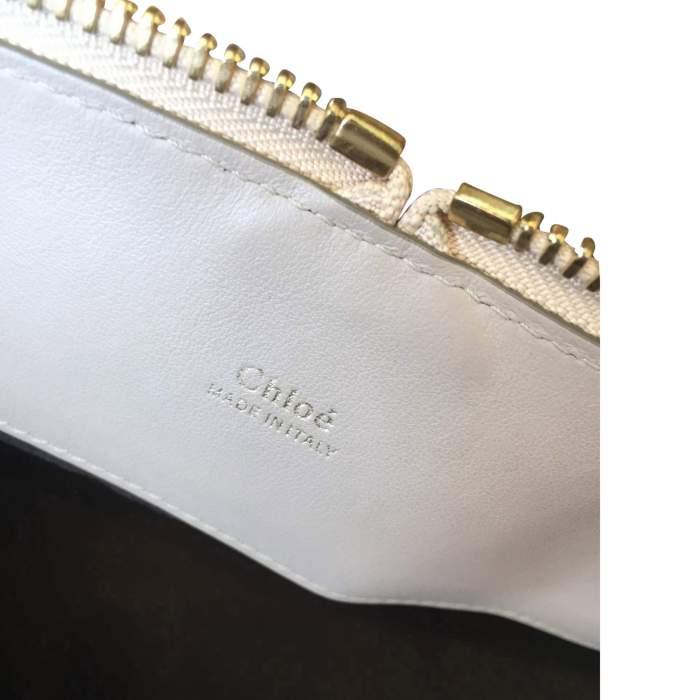 Beige and light gray  leather Handbag -10