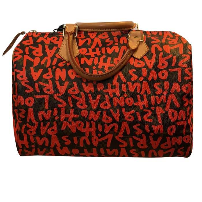 Graffiti monogram canvas Bag -2