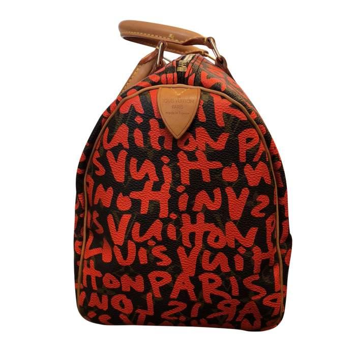 Graffiti monogram canvas Bag -4