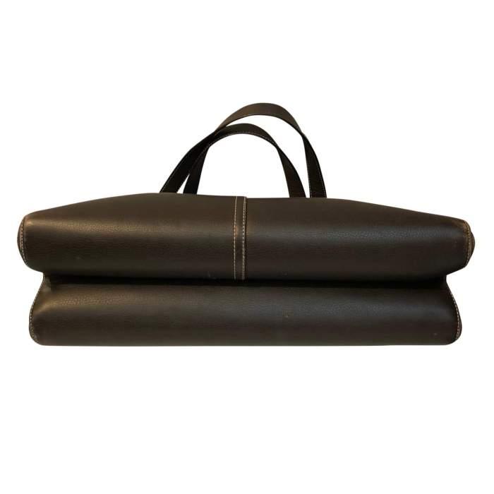 Chocolate leather Bag-6