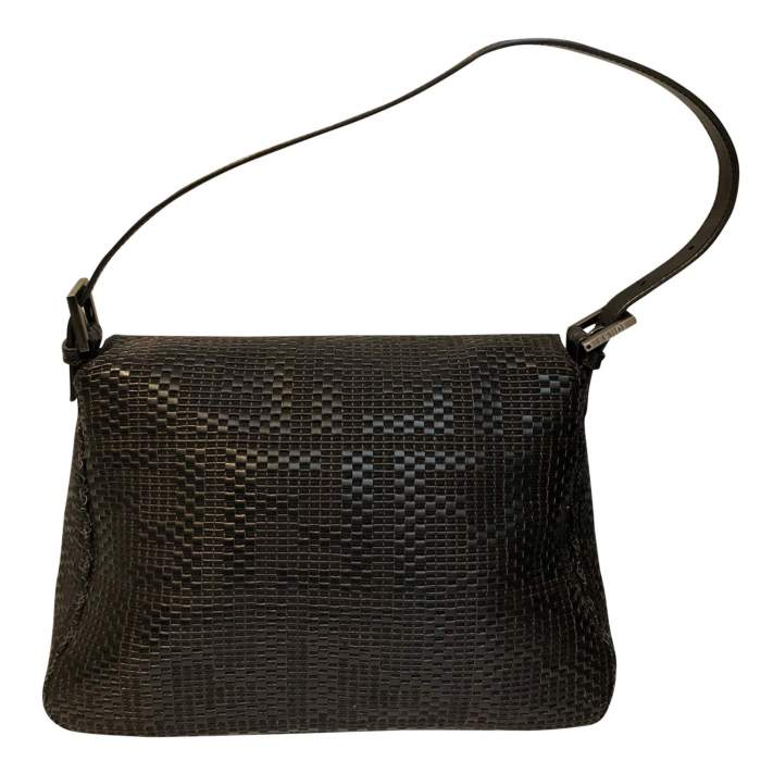 Black braided leather Bag-2