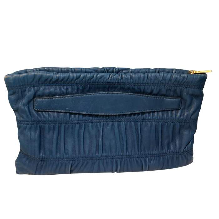 Blue leather Clutch-2
