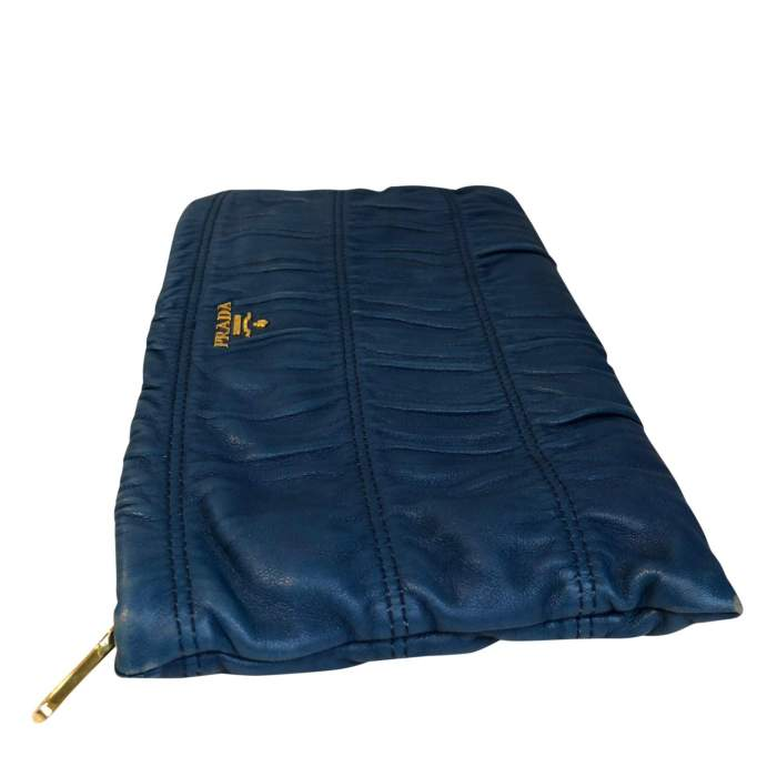Blue leather Clutch-4