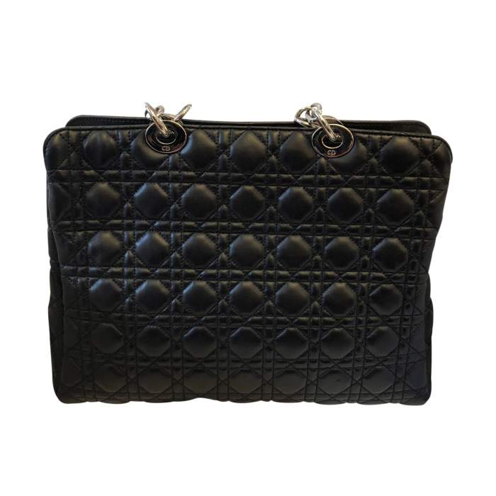 Quilted black leather Bag-2
