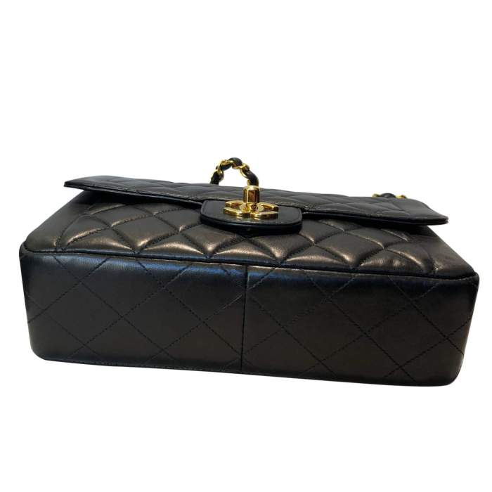 Vintage Black quilted leather Bag-6