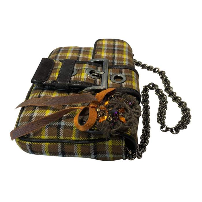 Small plaid wool Bag-4