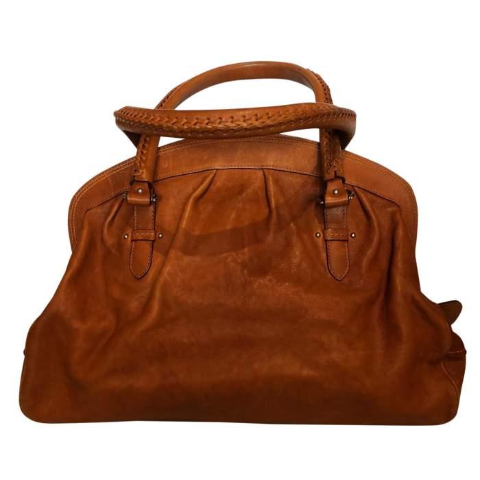 Large gold leather Bag-2