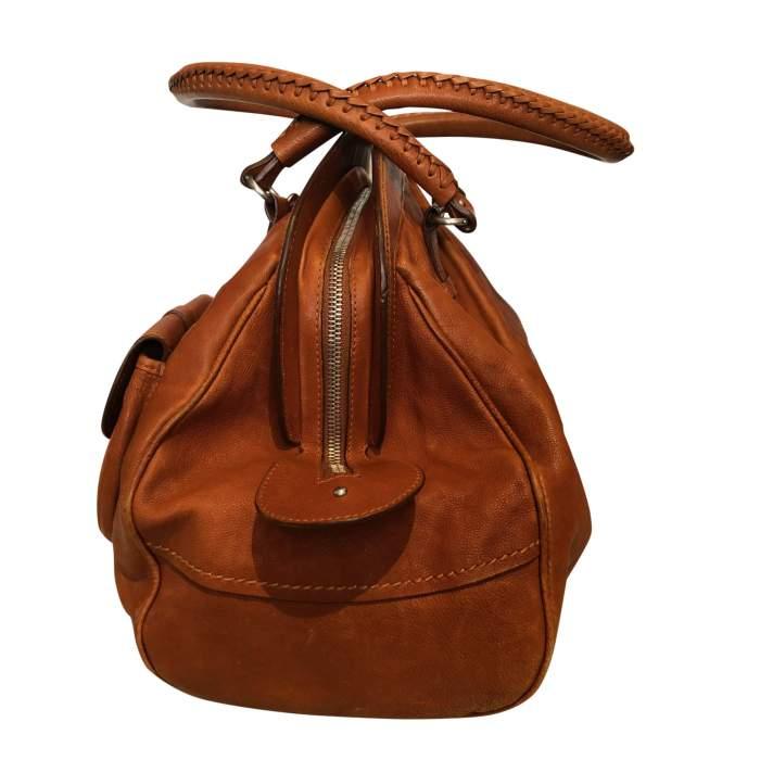 Large gold leather Bag-4