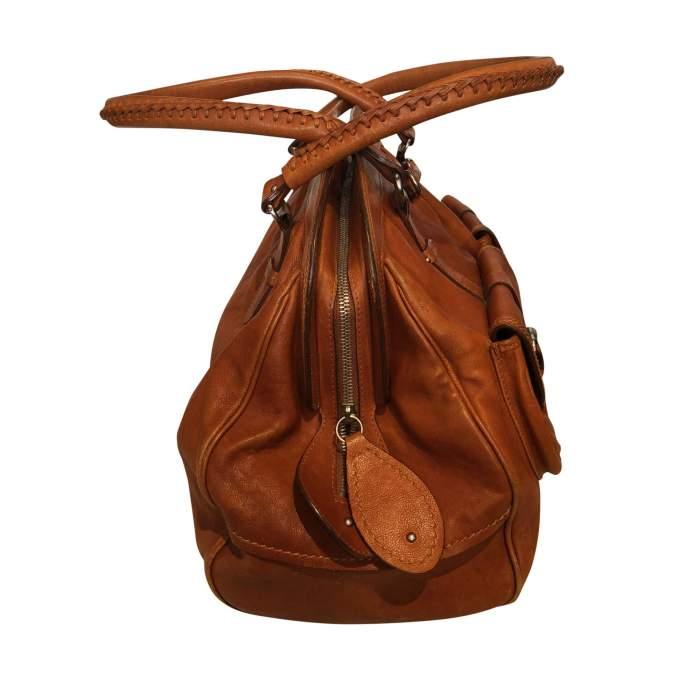 Large gold leather Bag-6