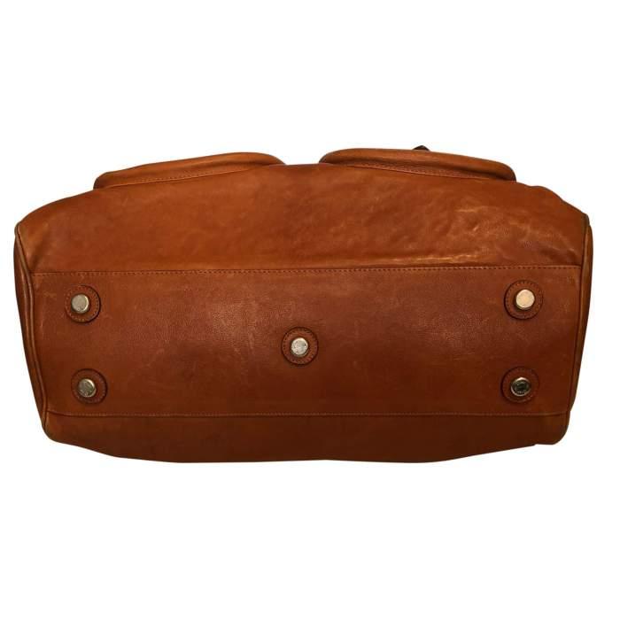 Large gold leather Bag-8