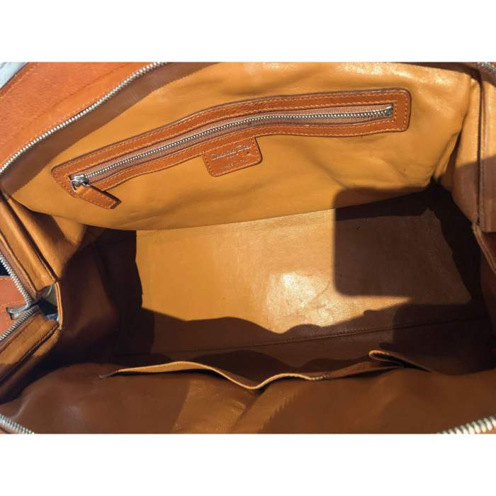 Large gold leather Bag-10
