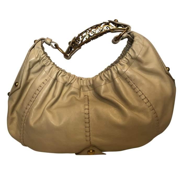 Beige leather Bag-2