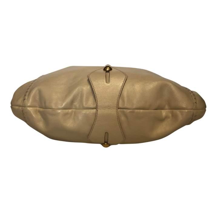 Beige leather Bag-6