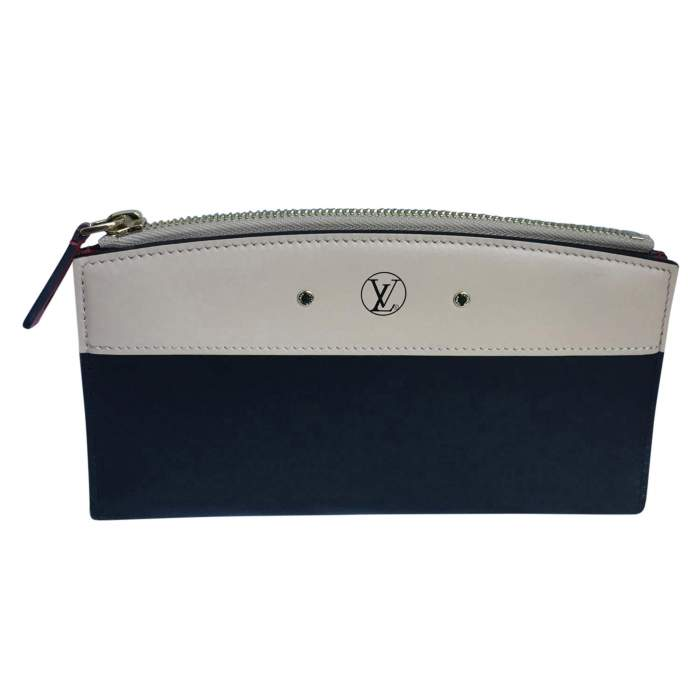 All-in-one beige and black leather Wallet-0