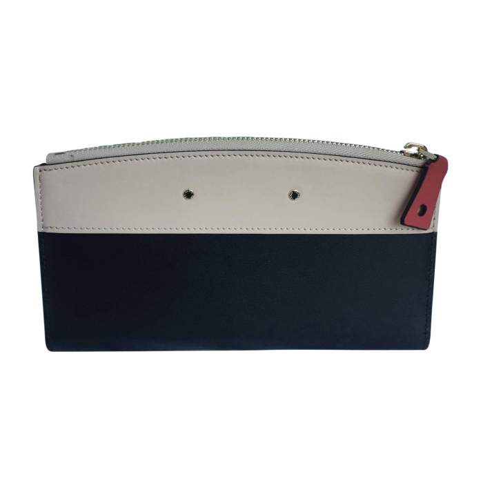 All-in-one beige and black leather Wallet-2