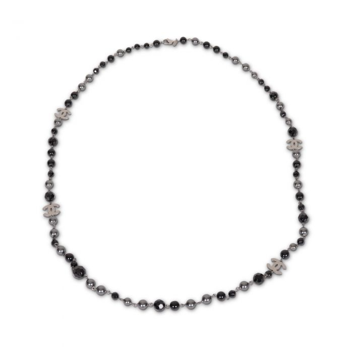 Black and grey pearls Necklace-2