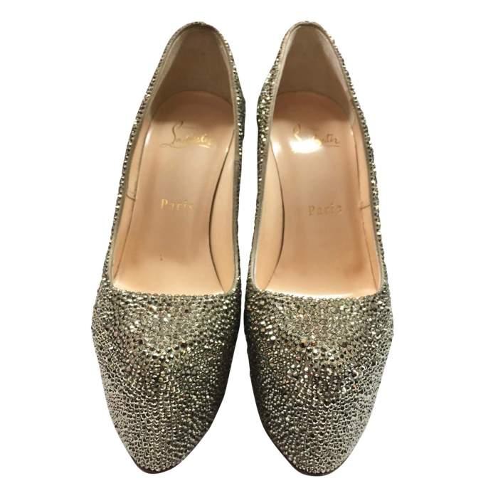 New rhinestone silver platform Shoe-4
