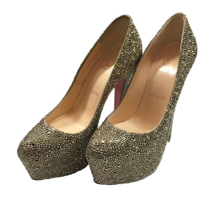 New rhinestone silver platform Shoe-0
