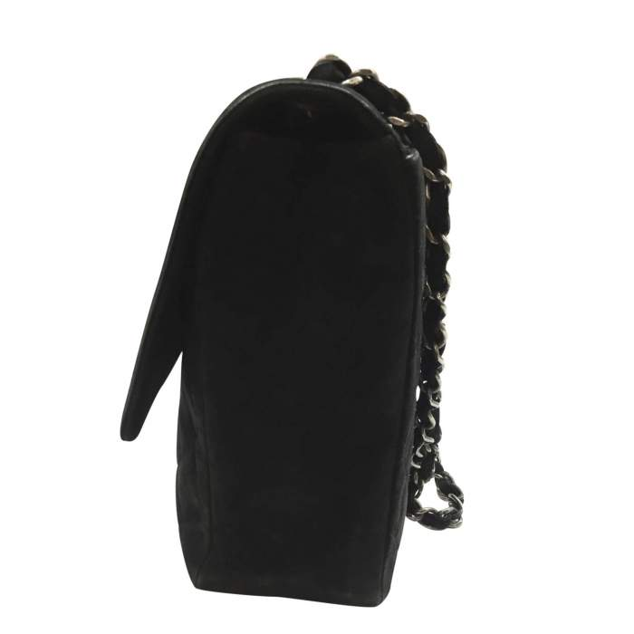 Classic jumbo bag in black Suede-4