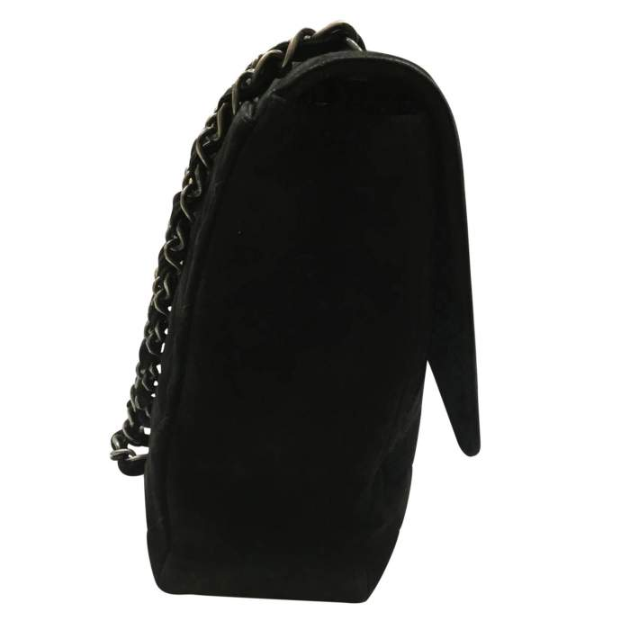 Classic jumbo bag in black Suede-6