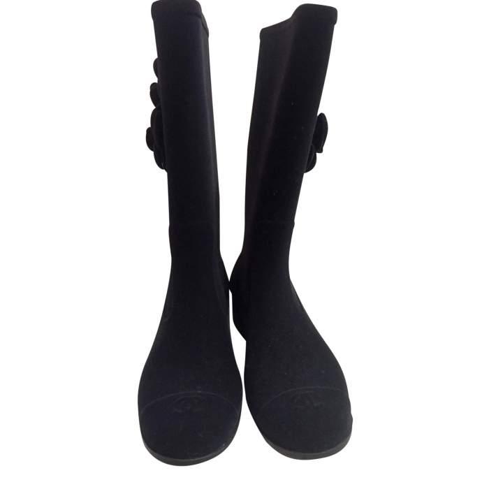 New velvet rain Boots-2