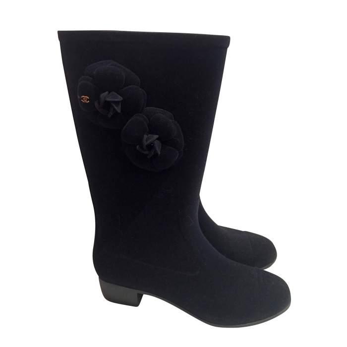 New velvet rain Boots-0