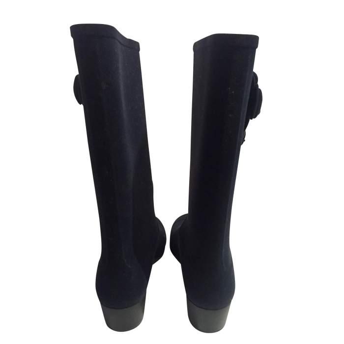 New velvet rain Boots-4