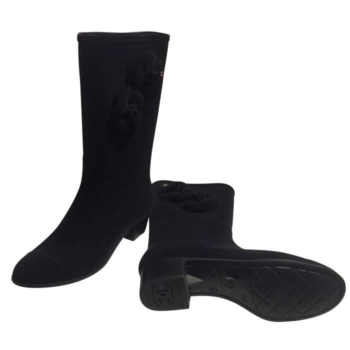 New velvet rain Boots-6
