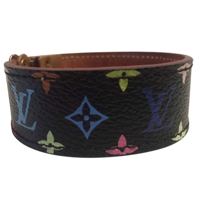 Multicolored coated canvas Bracelet-4