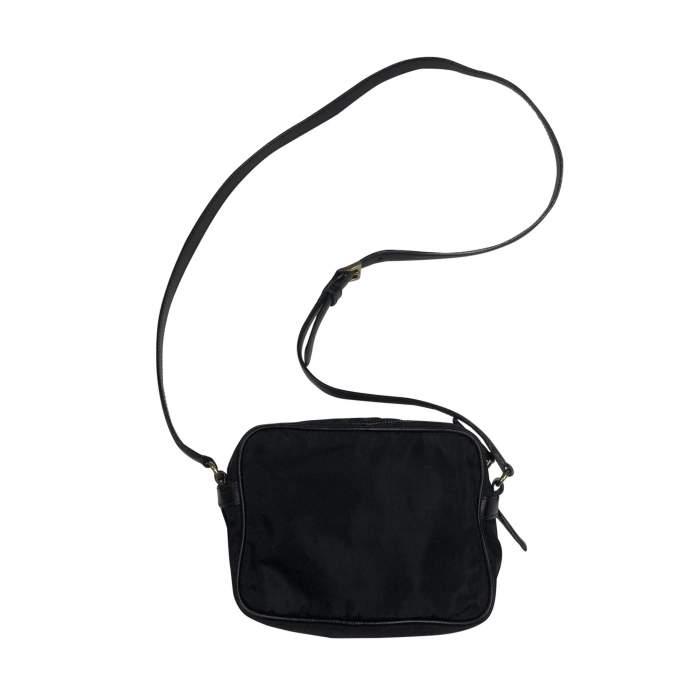 Vintage Black Nylon Crossbody Pouch-2