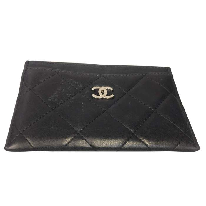 Black quilted leather Wallet-0