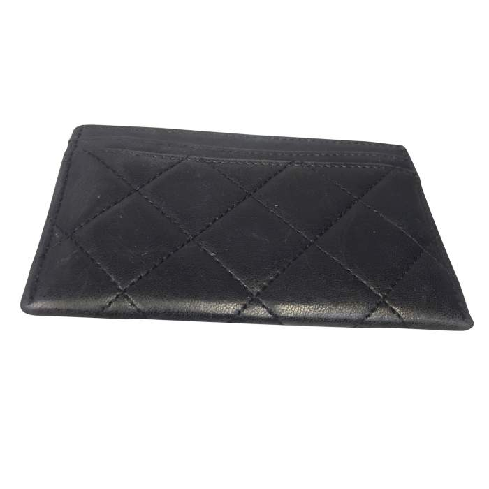 Black quilted leather Wallet-2