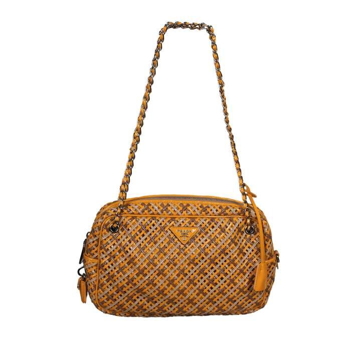 Braided leather Bag-0