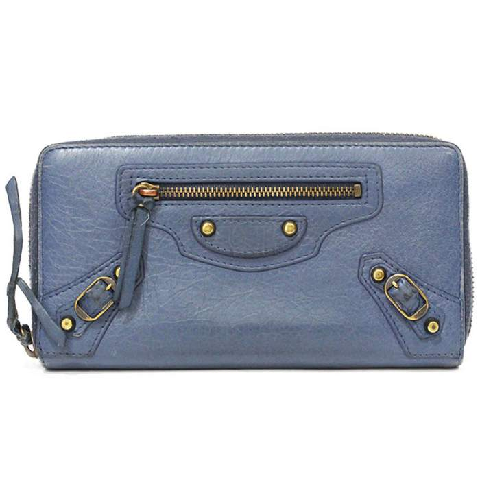 Blue leather Wallet-0