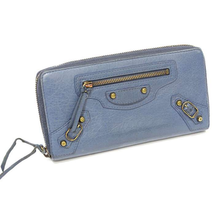 Blue leather Wallet-4