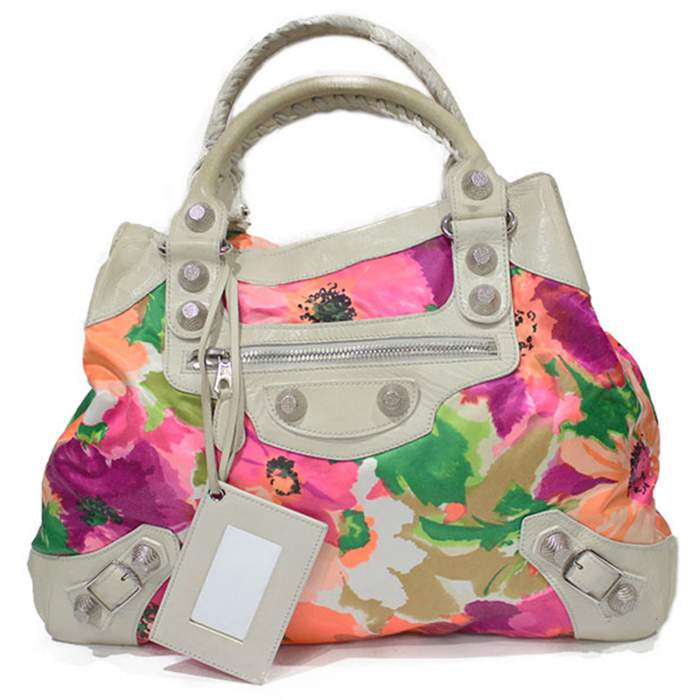 Flower leather Bag -0