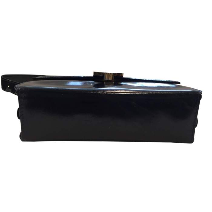 Vintage 1970s black patent leather Bag-6