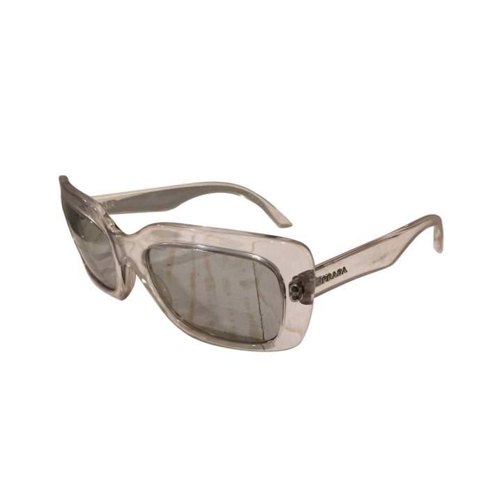 Transparent plastic Sunglasses-0
