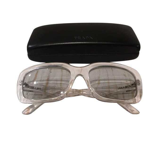 Transparent plastic Sunglasses-8