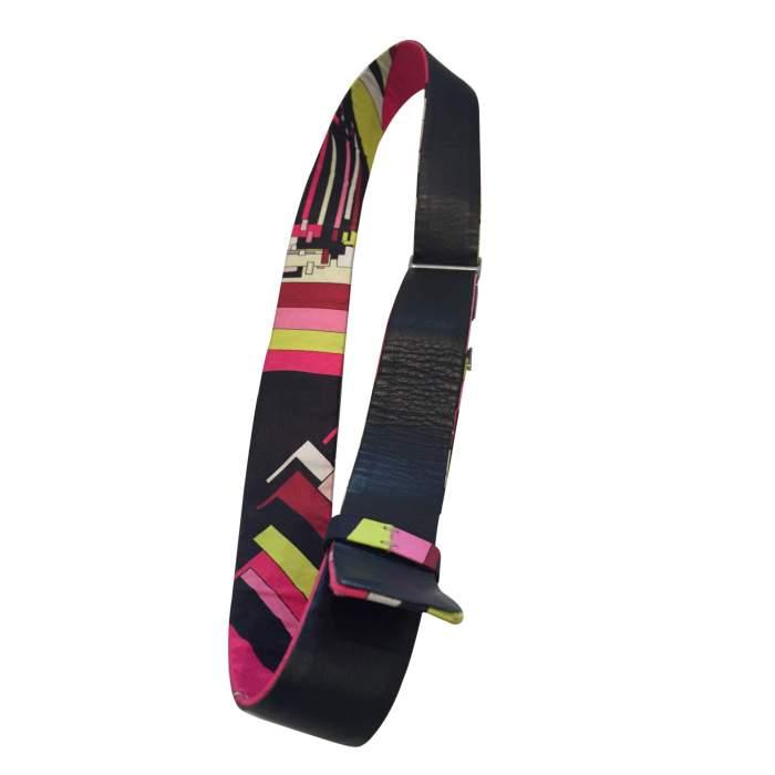 Vintage 1970s multiple fabric Belt-4