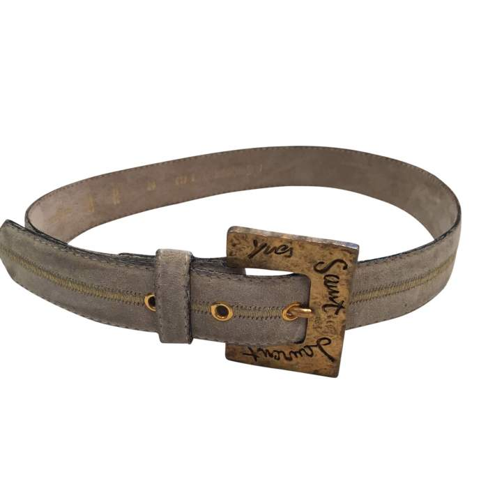Vintage 1990 gray suede Belt-0