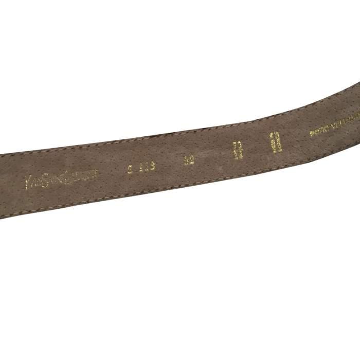 Vintage 1990 gray suede Belt-4